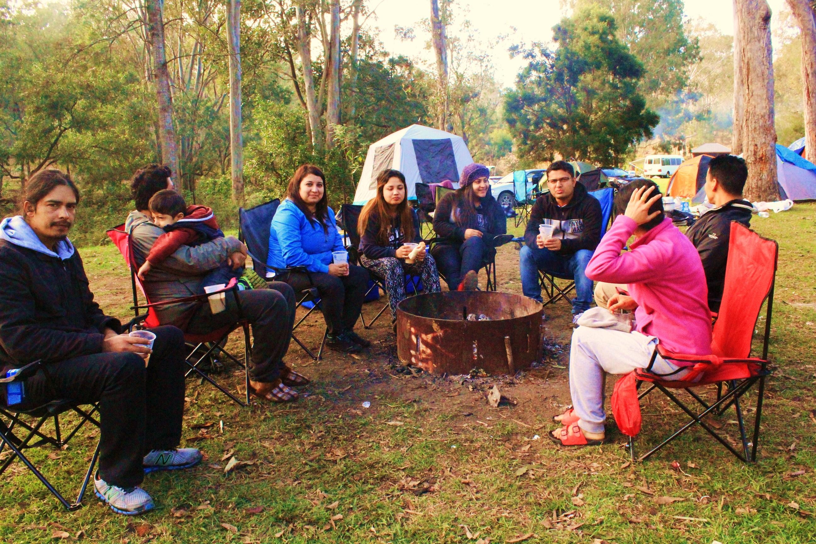 Camping at Peach Tree Camping Site, Jimna QLD
